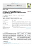 Numerical ductile tearing simulation of circumferential cracked pipe tests under dynamic loading conditions