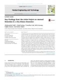 Key findings from the artist project on aerosol retention in a dry steam generator