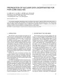 Propagation of nuclear data uncertainties for pwr core analysis
