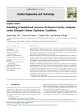 Modeling of reinforced concrete for reactor cavity analysis under energetic steam explosion condition