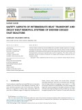 Safety aspects of intermediate heat transport and decay heat removal systems of sodium cooled fast reactors