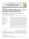 Simulation of containment pressurization in a large break-loss of coolant accident using singlecell and multicell models and contain code