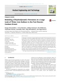 Modeling of hydrodynamic processes at a large leak of water into sodium in the fast reactor coolant circuit