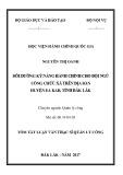 Tóm tắt Luận văn thạc sĩ Quản lý công: Bồi dưỡng kỹ năng hành chính cho đội ngũ công chức xã trên địa bàn huyện Ea Kar, tỉnh Đắk Lắk