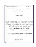 Luận văn thạc sĩ Luật Hiến pháp và Luật Hành chính: Giám sát của Hội đồng nhân dân huyện Đắk Song, tỉnh Đắk Nông đối với Ủy ban nhân dân huyện trong lĩnh vực thu – chi ngân sách Nhà nước