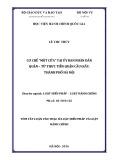 Tóm tắt Luận văn thạc sĩ Luật học: Cơ chế một cửa tại Ủy ban nhân dân quận – từ thực tiễn Ủy ban nhân dân quận Cầu Giấy