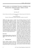 Application of extended Kalman filtering for estimating immeasurable vehicle state variables