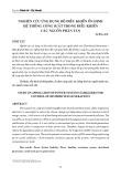 Nghiên cứu ứng dụng bộ điều khiển ổn định hệ thống công suất trong điều khiển các nguồn phân tán