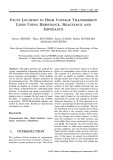 Fault location in high voltage transmission lines using resistance, reactance and impedance