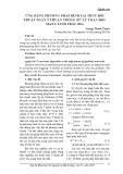 Ứng dụng phương pháp bình sai truy hồi thuật toán T thuận trong xử lý toán học mạng lưới trắc địa