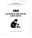 288 cơ hội & kế  sách làm giàu: phần 1