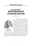 PGS.TS. Nguyễn Công Lý - Người mở hướng nghiên cứu về văn học Phật giáo Việt Nam (Tấm gương người làm khoa học)