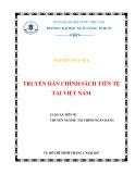 Luận án tiến sĩ Kinh tế: Truyền dẫn chính sách tiền tệ tại Việt Nam