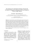Development of leadership competency framework for board of management members in private enterprises using a Delphi method