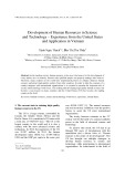 Development of human resources in science and technology – experience from the United States and application in Vietnam