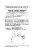 Phương trình chuyển động của con quay hai bậc tự do tốc độ góc có tính đến ảnh hưởng yếu tố kết cấu và động lực