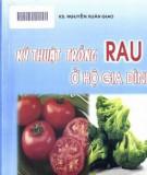 Hộ gia đình và kỹ thuật trồng rau: Phần 1
