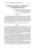 Nghiên cứu xử lý màu nước thải dệt nhuộm hoạt tính bằng keo tụ - tạo bông với sắt Sunphat/Zeolite