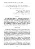 Ảnh hưởng của hàm lượng anastrozole lên các đặc trưng của hệ nano 2-hydroxypropyl-β-cyclodextrin alginate