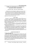 Nghiên cứu sự phụ thuộc của tốc độ nổ vào thành phần thuốc nổ hỗn hợp TГ