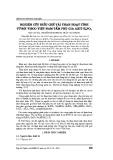 Nghiên cứu điều chế vải than hoạt tính từ sợi Visco Việt Nam tẩm phụ gia Axit H3PO4