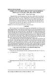 Nghiên cứu ứng dụng thuật toán Gauss Jordan trong xử lý số liệu trắc địa công trình