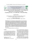 Phương pháp ước tính khả năng mang đối với hoạt động nuôi lồng bè cho các vịnh triều nước nông; Ứng dụng cho khu vực vịnh Bến Bèo, Cát Bà, Hải Phòng