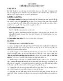 Quy định chế độ bàn giao của cán bộ nhân viên