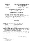 Mẫu Quyết định thanh lý Hợp đồng lao động