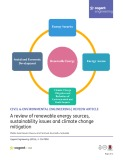 A review of renewable energy sources, sustainability issues and climate change mitigation.