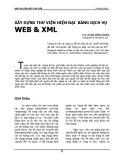 Xây dựng Thư viện hiện đại bằng dịch vụ Web và XML