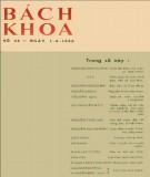 Tạp chí Bách Khoa - Số 34: Phần 1