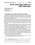 Để xây dựng cổng thông tin Việt Nam học