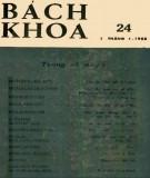 Tạp chí Bách Khoa - Số 24: Phần 1