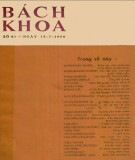 Tạp chí Bách Khoa - Số 61: Phần 1