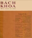 Tạp chí Bách Khoa - Số 61: Phần 2