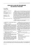 Cách gọi và cách viết tên ngôn ngữ các dân tộc ở Việt Nam