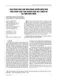 Giải pháp hạn chế hôn nhân xuyên biên giới trái pháp luật của người dân tộc thiểu số tại tỉnh Điện Biên