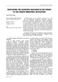 Developing the scientific magazine in the period of the fourth industrial revolution