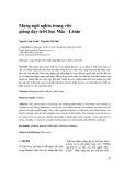 Mạng ngữ nghĩa trong việc giảng dạy triết học Mác - Lênin