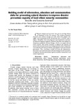 Building model of information, education and communication clubs for preventing natural disasters to improve disaster prevention capacity of local ethnic minority communities