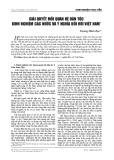 Giải quyết mối quan hệ dân tộc kinh nghiệm các nước và ý nghĩa đối với Việt Nam