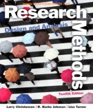research methods, design, and analysis (12/e): part 2