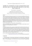 Nghiên cứu ảnh hưởng của silica fume kết nén có độ mịn khác nhau và tro trấu đến tính chất của bê tông chất lượng cao