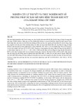 Nghiên cứu lý thuyết và thực nghiệm một số phương pháp dự báo mô men hình thành khe nứt của dầm bê tông cốt thép