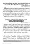 Khảo sát các tương tác thuốc trong đơn thuốc điều trị ngoại trú tại Bệnh viện trường Đại học Y dược Huế
