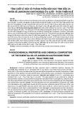 Tính chất lý hóa và thành phần hóa học tinh dầu sa nhân ké (Amomum xanthiodes) ở A Lưới - Thừa Thiên Huế