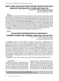 Định lượng curcumin trong tinh bột nghệ và viên hoàn nghệ mật ong bằng sắc ký lỏng hiệu năng cao