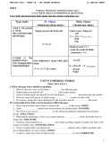 Bài tập tiếng Anh lớp 10 học kì 2