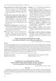 Nghiên cứu các biện pháp kỹ thuật cho Hà thủ ô đỏ [Fallopia multiflora (Thunb.) Haraldson] tại xã Sơn Đông, thị xã Sơn Tây, Tp. Hà Nội